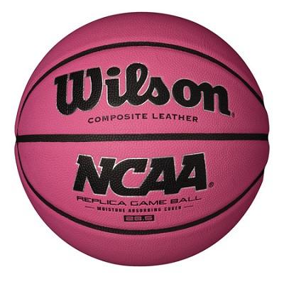 NCAA Replica Game Ball 28.5` Pink Basketball