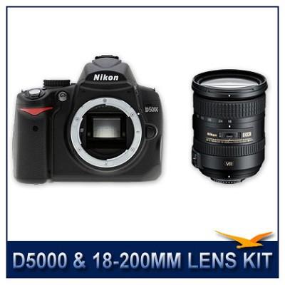 D5000 DX-Format Digital SLR w/ 18-200mm Lens Instant Rebate Bundle