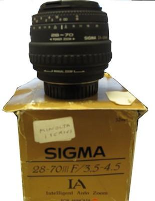 28-70mm F3.5-4.5 for Minolta Camera - OPEN BOX