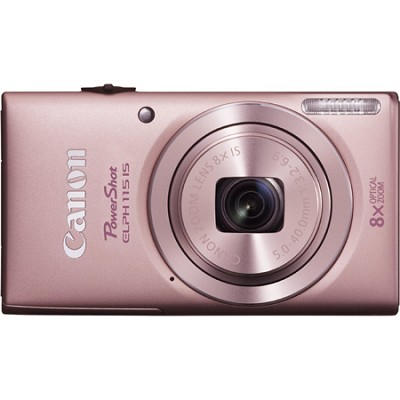 Powershot ELPH 115 IS Pink 16MP Digital Camera with 8x Opt. Zoom and Smart AUTO