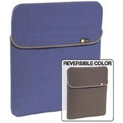XNS-15BLU - 15.4` Reversible Laptop Sleeve - Notebook Carrying Case - Gray/Denim