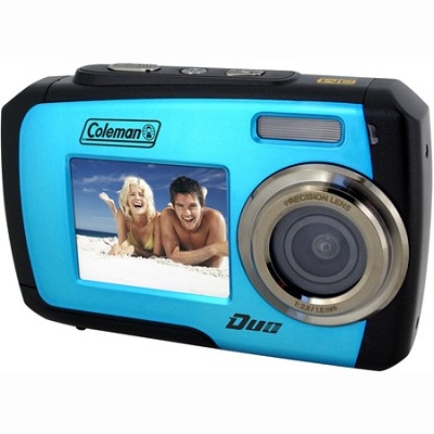 14MP Dual Screen Waterproof Digital Camera (Blue) - 2V7WP-BL