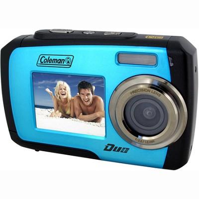 14MP Dual Screen Waterproof Digital Camera (Blue) - 2V7WP-BL
