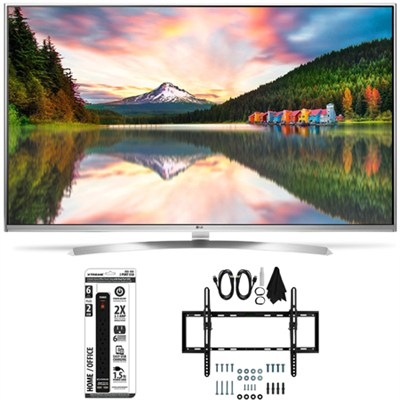 60UH8500 - 60-Inch Super Ultra HD 4K Smart LED TV Flat + Tilt Wall Mount Bundle
