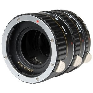 Metal Macro Automatic Extension Tube Set of 3 for Canon EOS (13mm, 21mm & 31mm)