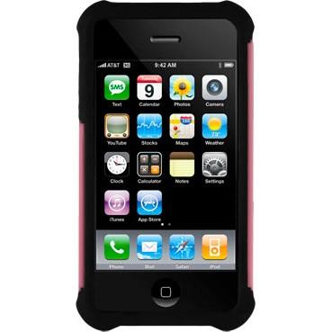 iPhone 4/4S Ballistic Shell Gel (SG) Series Case - Black/Pink