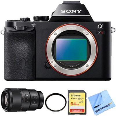 A7R (Alpha 7R) Interchangeable Lens Camera Body 90mm Macro Lens Bundle