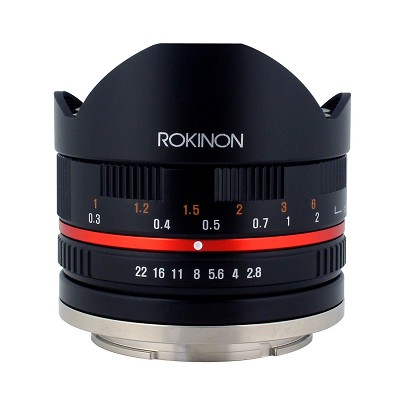 8mm F2.8 Fisheye Lens for Samsung NX 28FE8MBK-SNX Black