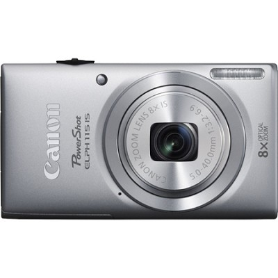 Powershot ELPH 115 IS Silver 16MP Digital Camera with 8x Opt. Zoom, Smart AUTO