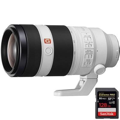 FE 100-400mm f/4.5-5.6 GM OSS Full Frame E-Mount + 128GB UHS-1 Memory Card