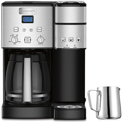 SS-15 12-Cup Coffee Maker and Single-Serve Brewer with Milk Carafe