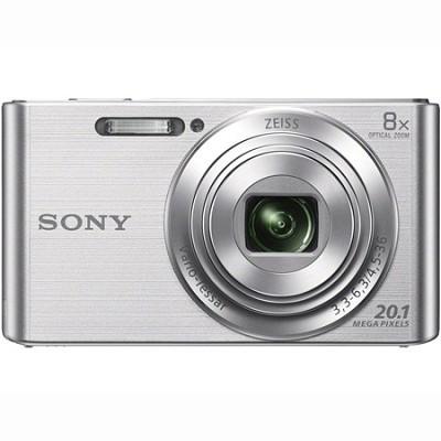 DSC-W830 Cyber-shot 20.1MP 2.7-Inch LCD Digital Camera - Silver - OPEN BOX