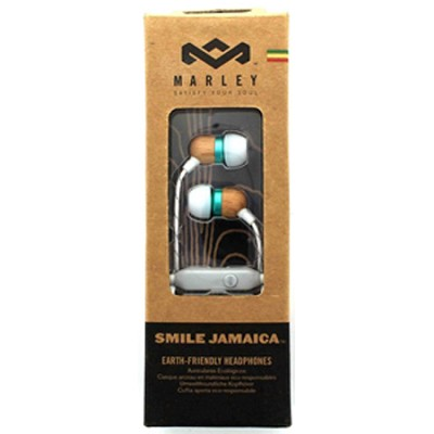 Smile Jamaica In-Ear Headphones With In-Line Mic - Mint
