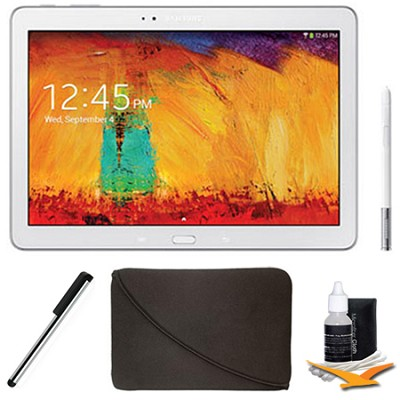 Galaxy Note 10.1 Tablet - 2014 Edition (16GB, WiFi, White) Plus Accessory Bundle