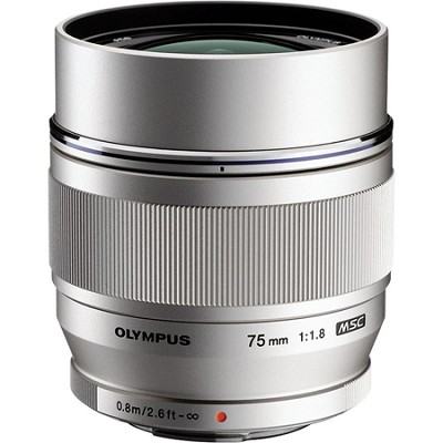 M.ZUIKO DIGITAL ED 75mm f1.8 (Silver) Lens - V311040SU000
