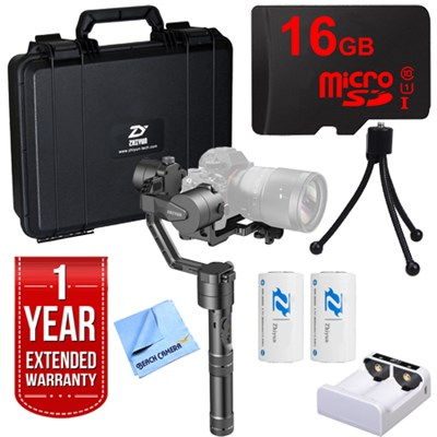Crane v2 3-Axis Handheld Gimbal Camera Stabilizer + 1 Year Extended Warranty