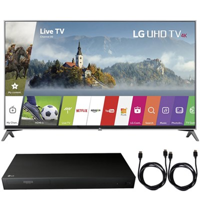 55UJ7700 - 55-inch UHD 4K HDR Smart LED TV (2017) + Blu-Ray Player Bundle