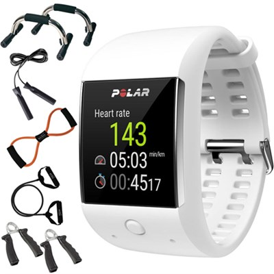 M600 Sports GPS Smart Watch White - 90063089 + 7-in-1 Fitness Kit