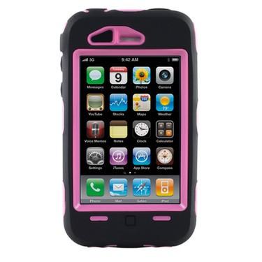 Defender Case for iPhone 3G (Black/Pink)