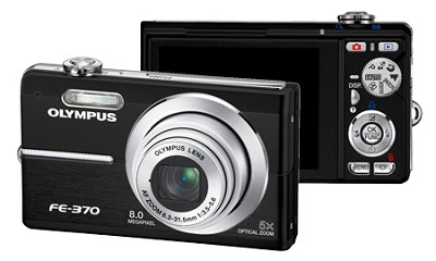 FE-370 8MP Digital Camera with Smile Shot (Black) - REFURBISHED