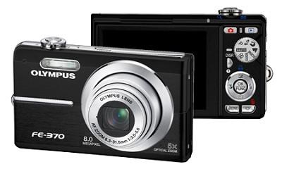 FE-370 8MP Digital Camera with Smile Shot (Black) - REFURBISHED