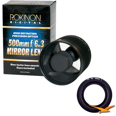 ED500M - 500mm f/6.3 Multi-Coated ED Mirror Lens for Nikon 1