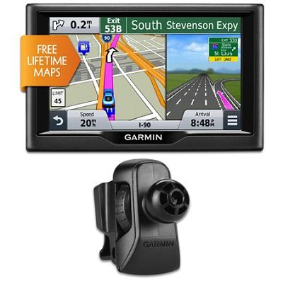 nuvi 57LM 5` Essential Series 2015 GPS System w Lifetime Maps Vent Mount Bundle