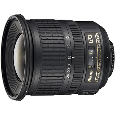 AF-S DX NIKKOR 10-24mm f/3.5-4.5G ED Lens - FACTORY REFURBISHED