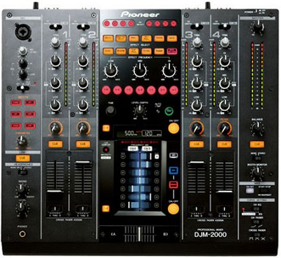 Professional 4 Channel DJ Mixer With Effects - DJM-2000