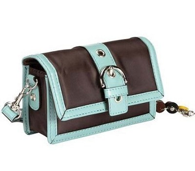 Aqua & Brown Fashion Camera Clutch  - 8638736