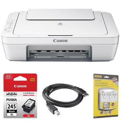 Pixma All-In-One Color Printer, Scanner, Copier w/ Canon Black Ink Bundle