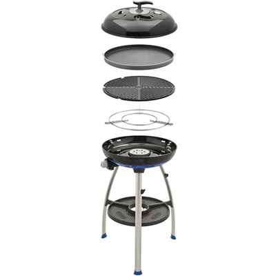 Carri Chef 2 Portable Outdoor Grill with 3-in-1 Pot Ring, BBQ Grid and Chef Pan