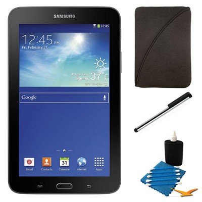 Galaxy Tab 3 Lite 7.0` Black 8GB Tablet and Case Bundle