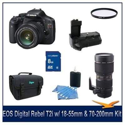 EOS Digital Rebel T2i w/ 18-55 IS and Tamron 70-200 DI Lens Kit