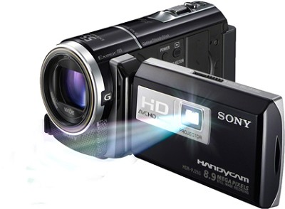 HDR-PJ260V 16GB 8.9 MP Stills 30x Optical Wide Angle HD Projector and Camcorder