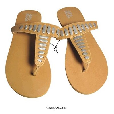 FOM277 Sandals Sand/Pewter Size Medium (7/8)