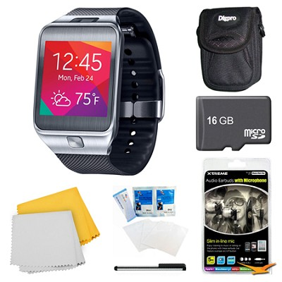 Gear 2 Black Watch, Case, and 16GB Card Bundle