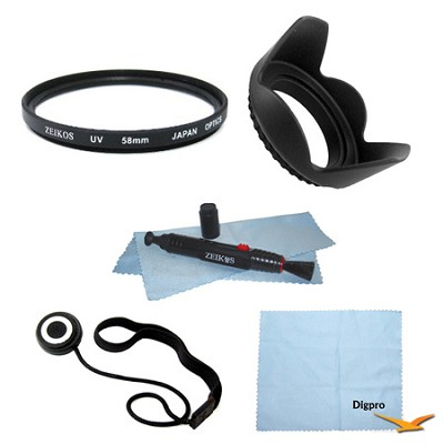 Essential 58mm UV Filter Accessory Bundle