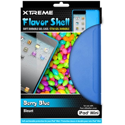 Berry Blue Flavor Shell Soft Durable Gel Case for the iPad Mini