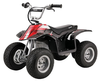 Dirt Quad Electric Four-Wheeled Off-Road Vehicle (Black) - OPEN BOX