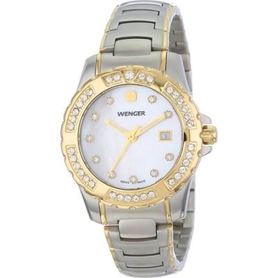 Ladies' Sport Watch - White Mother-of-Pearl Dial/Bicolor Steel Bracelet