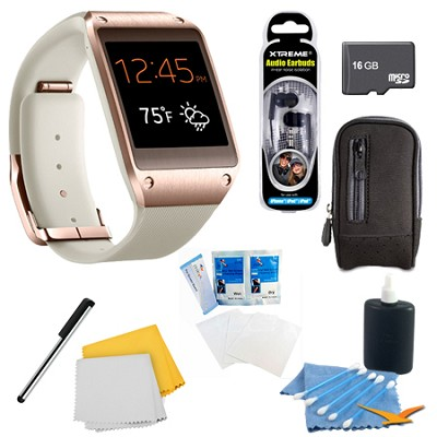 Rose Gold Galaxy Gear Smartwatch Memory Bundle