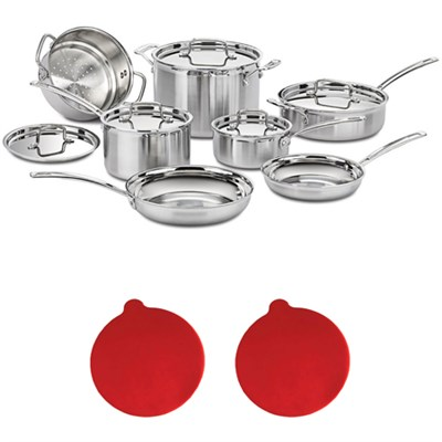 Multiclad Pro Tri-Ply 12 pc. Stainless Cookware Set w/2 Silicon Trivets