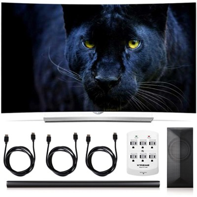 65EG9600 - 65-Inch 2160p Curved 4K UHD 3D OLED+ LAS751M 4.1 Channel Soundbar