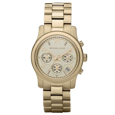 Runway Gold-Tone Chronograph Women's Watch - MK5055
