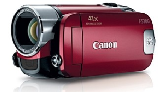 FS200 Flash Memory Camcorder (Red)