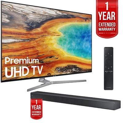 UN65MU9000FXZA 65` 4K UHD Smart LED TV 2017 + Sound+ Soundbar Extended Warranty