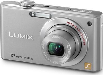 DMC-FX48S LUMIX 12.1 MP Compact Digital Camera with HD Movie (Silver)