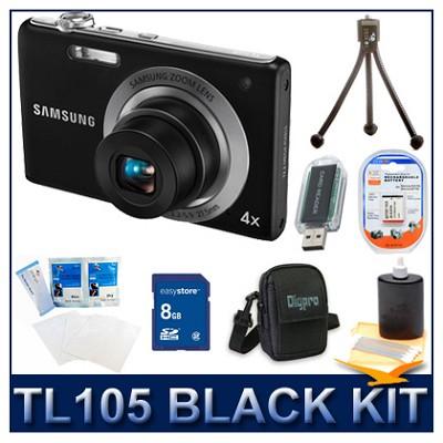 TL105 12.2MP Digital Camera Black Kit w/ Memory Card, Case, Screen Protector