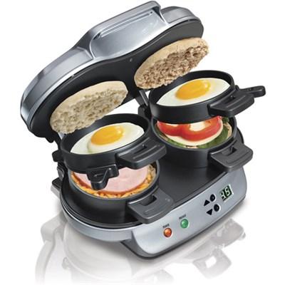 25490 Dual Breakfast Sandwich Maker (Factory Recertified)